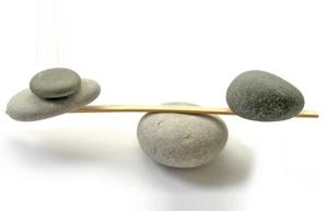 Blaance pebbles