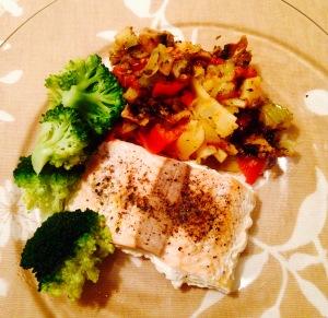 Dinner - Salmon and Veg